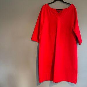 Talbots Women's Ponte Dress Red 18 Holiday